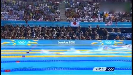 重温伦敦奥运会,自由泳比赛,叶诗文狠甩美对手夺冠创世界纪录!