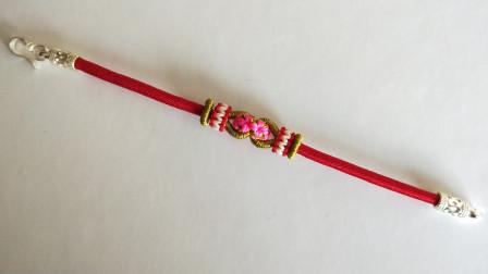 用红绳教你编织一条与众不同的手链,漂亮又喜庆