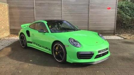 保时捷911 turbo s 蜥蜴绿