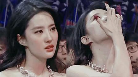 有一种美叫刘亦菲流泪,一个哭比笑还好看的女星,真像神仙落泪