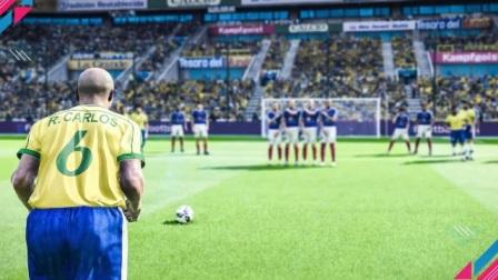 实况足球2020,神复制世界级任意球,太逼真了吧!