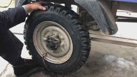 三轮摩托车外胎到底有多难安装?看修车师傅用什么技巧拆卸安装