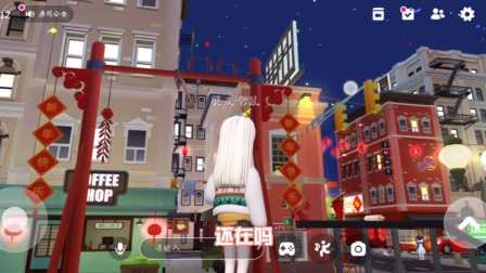 崽崽:市中心竟然变成新年版的啦!