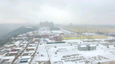 2020年正月航拍正宁县美丽雪景