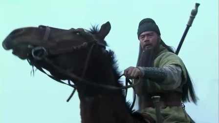 《三国》关羽和吕布的唯一一次交锋,看得出来关羽很是吃力