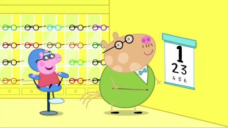 小猪佩奇:佩奇在猪妈妈的带领下,去医院检查视力!结果带上了眼镜