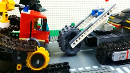 乐高组装各种重型汽车工程车 趣味动画