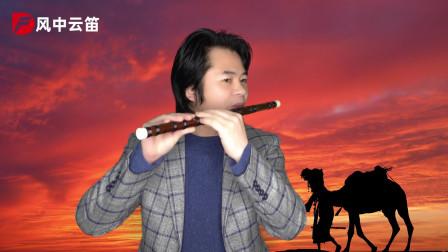 笛子吹奏蒋大为经典歌曲《天边的骆驼》,笛声如天籁,好听醉心头
