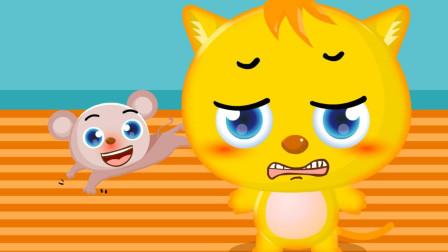 嘟拉动物故事 小花猫刮胡子