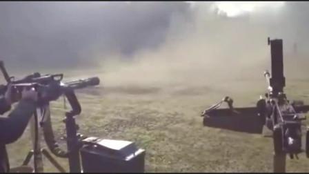 美女试射加特林,速度不是一般的快