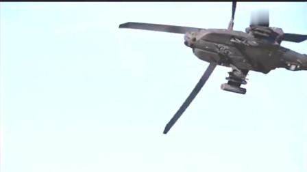 美国陆军AH-64阿帕奇低空飞行