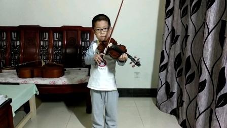 邱意扬(6岁三个月)练(luan)习(la)小提琴协奏曲《莫扎特小提琴协奏曲No.1 in B flat,K.207(第三乐章)》