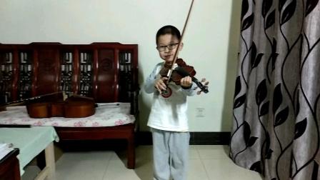邱意扬(6岁三个月)练习小提琴协奏曲《莫扎特小提琴协奏曲No.5 in A,K.219(第三乐章)》