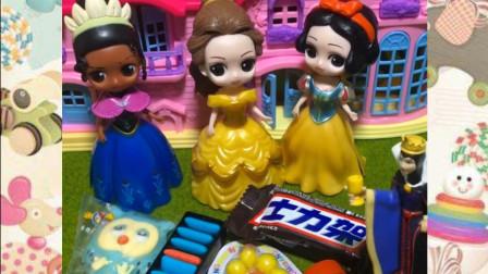 贝尔公主的零食不和白雪妹妹一起分享,母后不高兴了