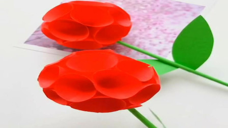 一分钟折纸玫瑰花手工折纸视频教程,一看就会!