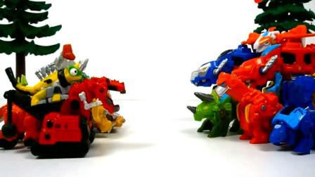 趣味玩具 侏罗纪恐龙袭击变形机械龙谁能获得最终胜利