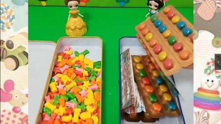 白雪和贝尔不同的美味糖果,小朋友喜欢谁的?