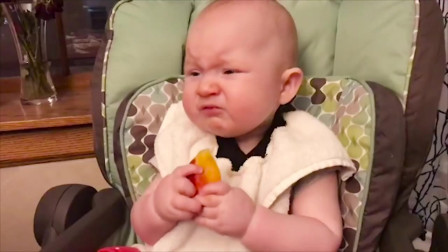 妈妈骗宝贝吃酸,宝宝表情好酸爽,搞笑