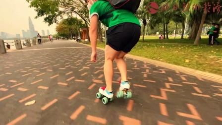 旭日双排轮滑 炫酷户外轮滑刷街 深圳湾公园 红树林 2020年3月15日