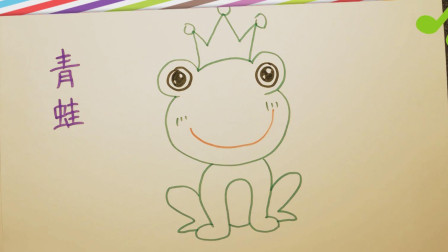少儿学画画简笔画-青蛙 儿童绘画入门教学 幼儿学美术亲子 小孩学画画启蒙教育【乐成宝贝】