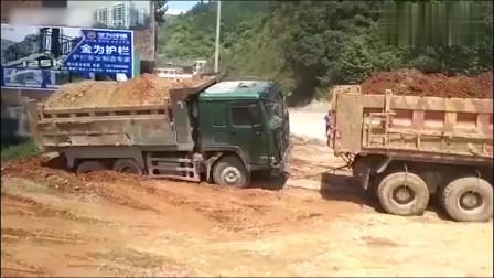 卡车我叫你把我车拉出来,不是让你把我的轮胎拉出来