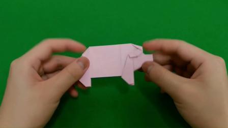 你会猪的折纸么?教你学一只猪的折纸,你也能学会