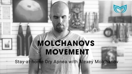 Alexey Molchanov的陆地闭气训练
