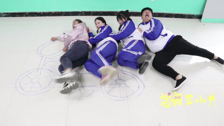 """学霸王小九校园剧:学生自制""""落地自行车""""玩,老师见了也要加入!过程真是太逗了"""