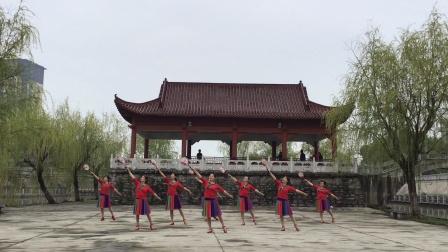 繁昌自由飞翔柔力球队练习双拍《十八洞的月光》