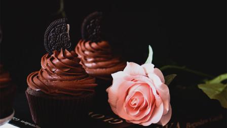 制作入口丝滑治愈系满满的奥利奥巧克力奶油奶酪杯子蛋糕