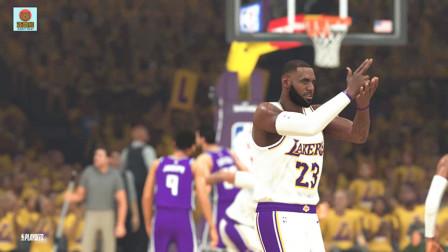NBA2K20 詹姆斯开启灭霸詹模式,教对面年轻国王队员如何打球!