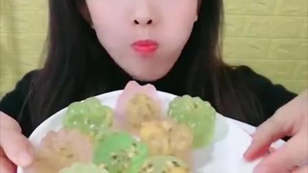 萌姐试吃:彩色大果冻糖,好看又好吃,甜甜的超美味