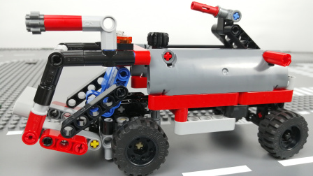 机场消防车【LEGO乐高速拼42084】