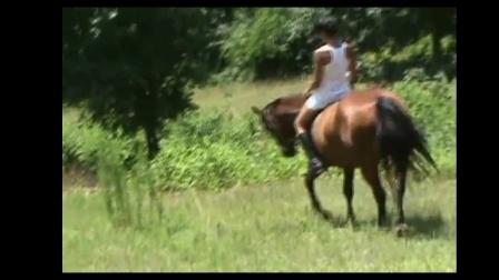美女骑马106