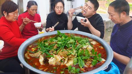 """超小厨买50条鱼苗放池塘,岳父下厨六斤""""肥肠鱼""""一家老少吃过瘾"""