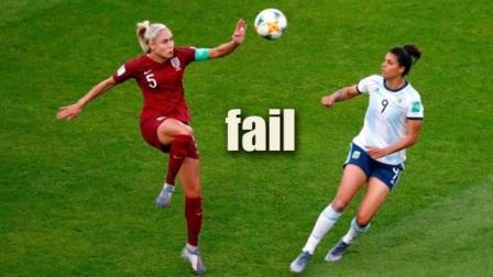 你没看错,这在女足里都属于职业的,空门不进对手都蒙了