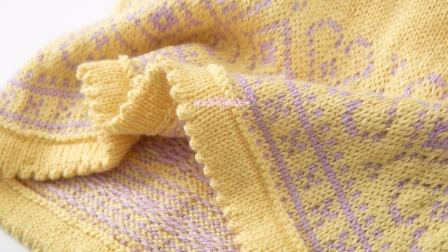 第176集玲珑提花裙领口及育克编织(1)