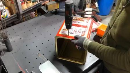 废旧的铁桶不要扔,改造成简易火箭炉,比买的还好用