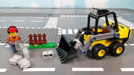 装载机铲车推土机建筑工作【LEGO60219】