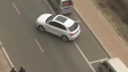湖南郴州大哥这个侧方停车,一看就是科目二满分过的!