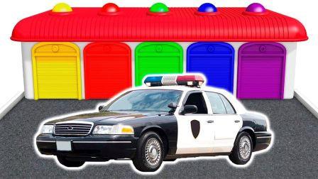 变形警车珀利和熊出没警车玩具
