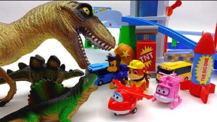 奥特曼和超级飞侠勇闯恐龙世界