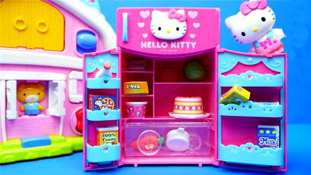 小猪佩奇和芭比娃娃微波炉过家家玩具