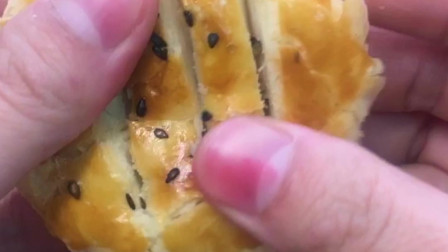 外皮酥脆掉渣的自制老婆饼,家里有烤箱的都来试一下~
