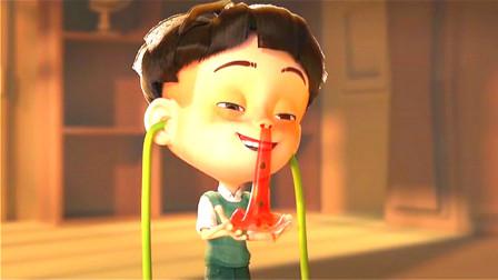 男孩吃西瓜又吃籽,胸前居然长满西瓜叶,血液变成西瓜汁!