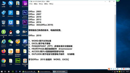 Word零基础入门视频教程 第一讲 OFFICE软件介绍