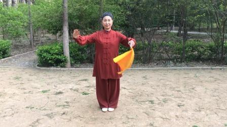 40式养生太极花刀,刘慧演练