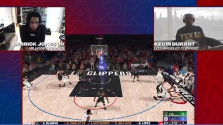 杜小帅一轮游!NBA2K锦标赛杜兰特不敌新科扣篮王