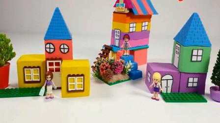 用彩泥制作彩色的房屋城堡 宝贝益智色彩早教
