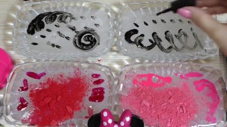 创意无硼砂史莱姆,水晶泥混搭多种化妆品,好玩解压超棒